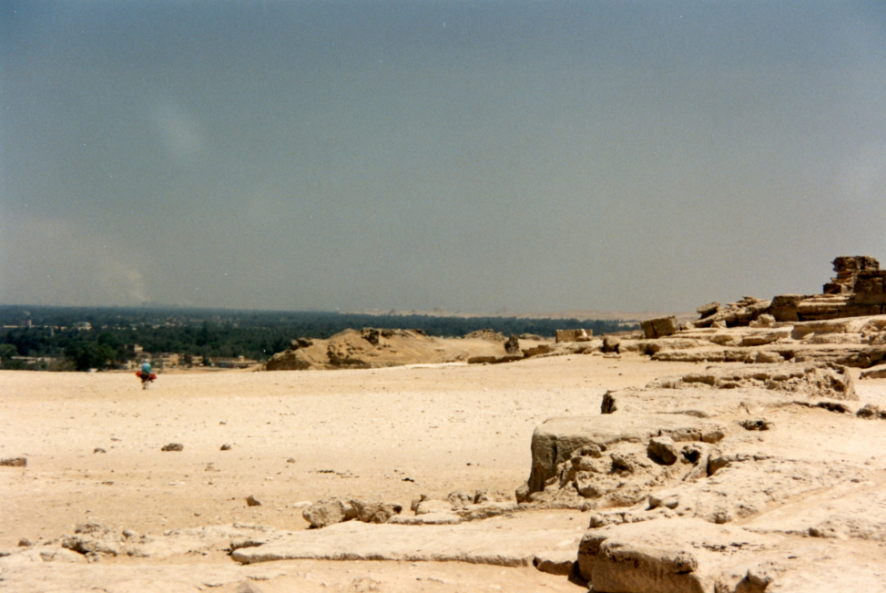 A view of the Nile valley in the distance