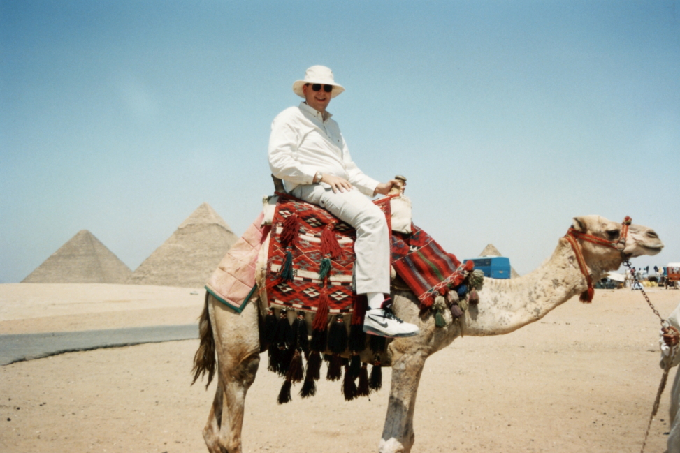...and Brian on a camel!