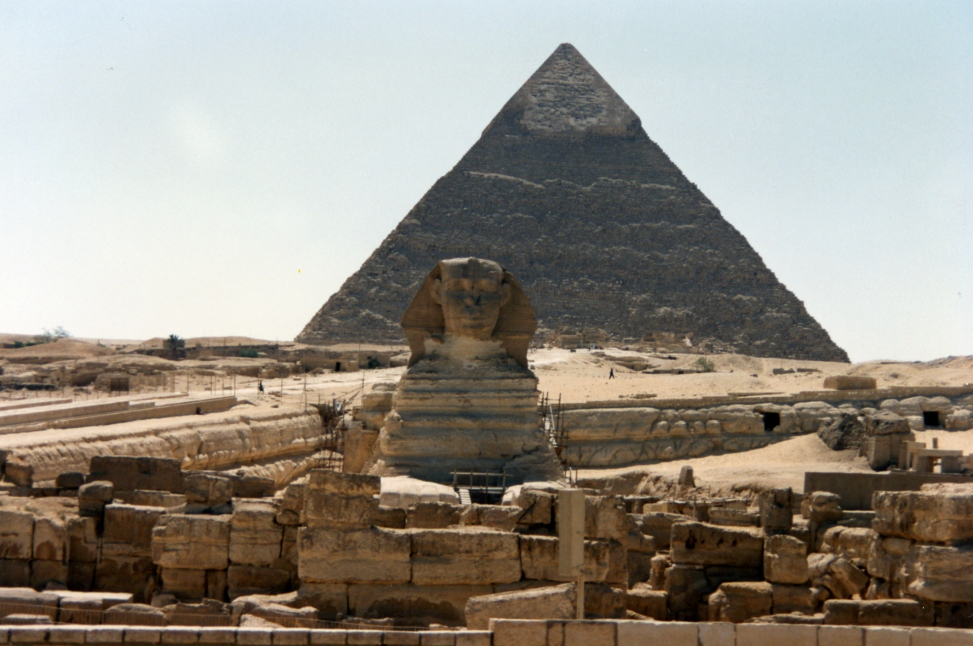 The Sphinx with the pyramid of Khafre beyond