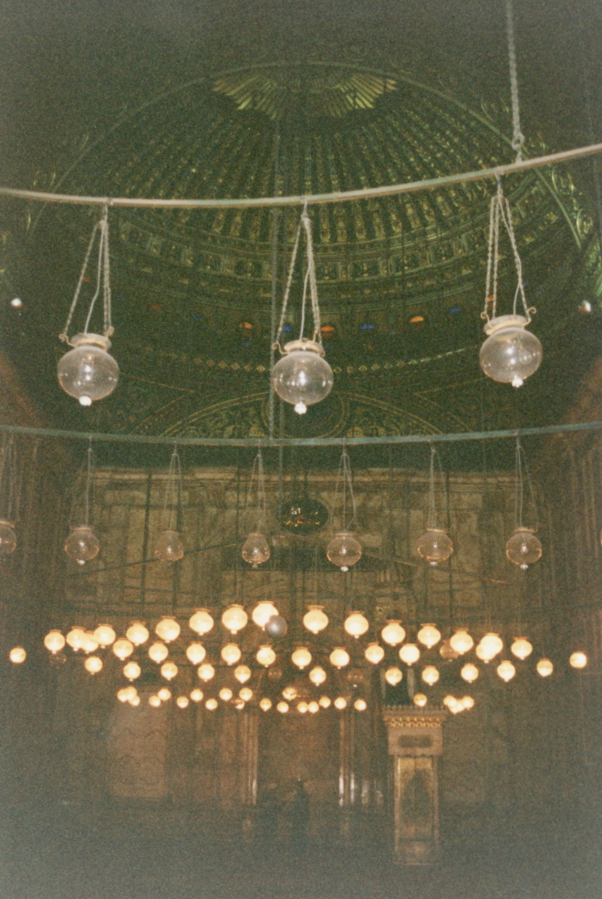 Light globes in the mosque