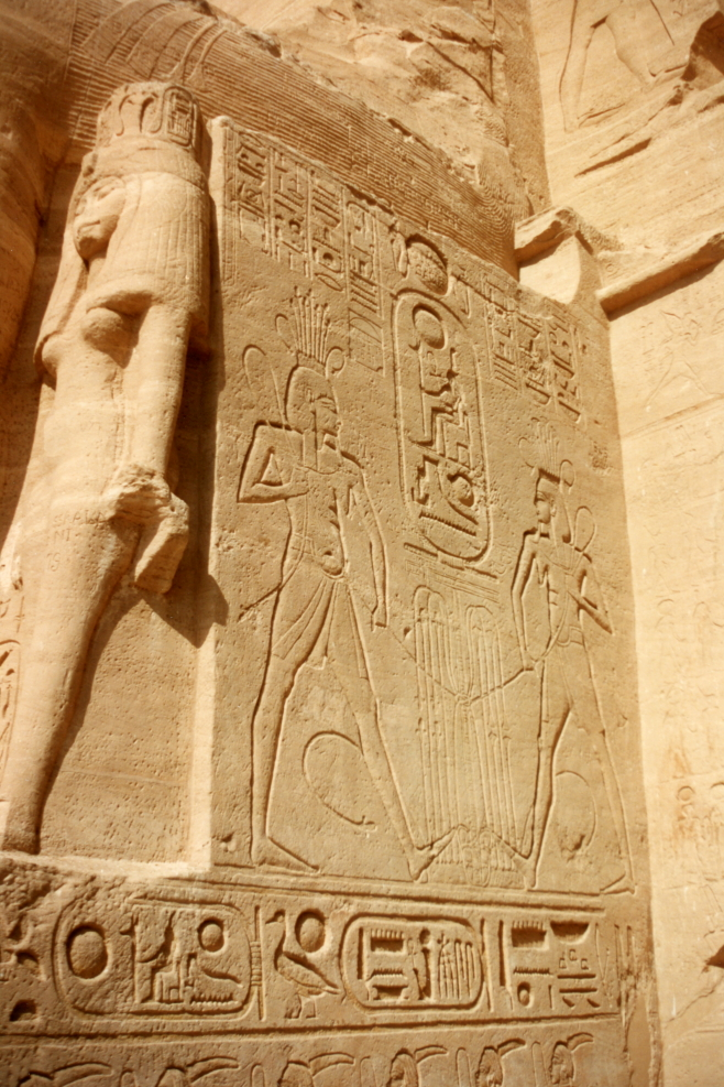 Side of a statue at Abu Simbel