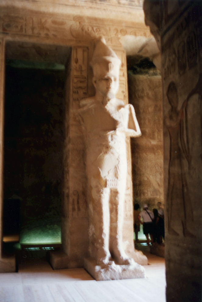 Statue of Ramses II from within the Temple of Nefertari