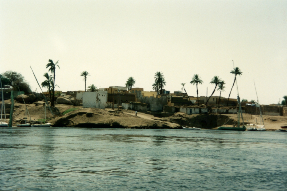 Nile River scenery from the felucca