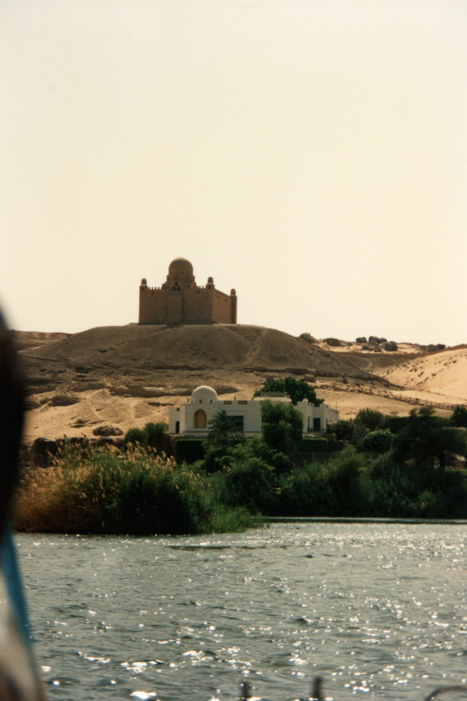 Mausoleum of Aga Khan from the Nile River