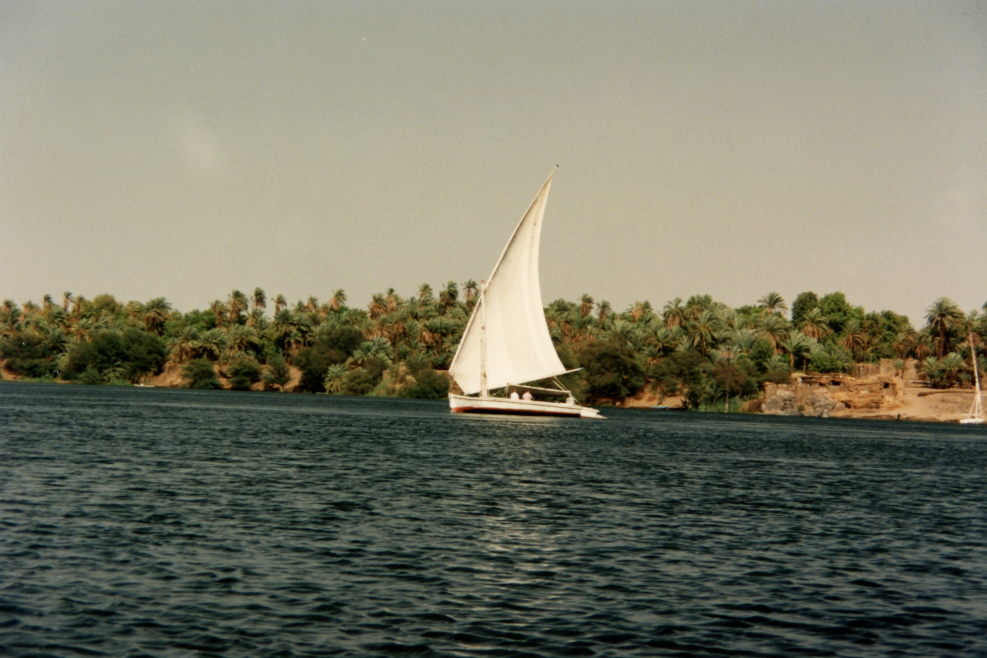 Another felucca sailing on the Nile