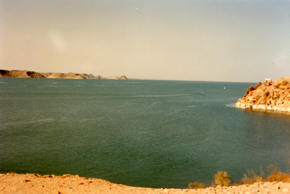 Lake Nasser, created by damming the Nile at Aswan