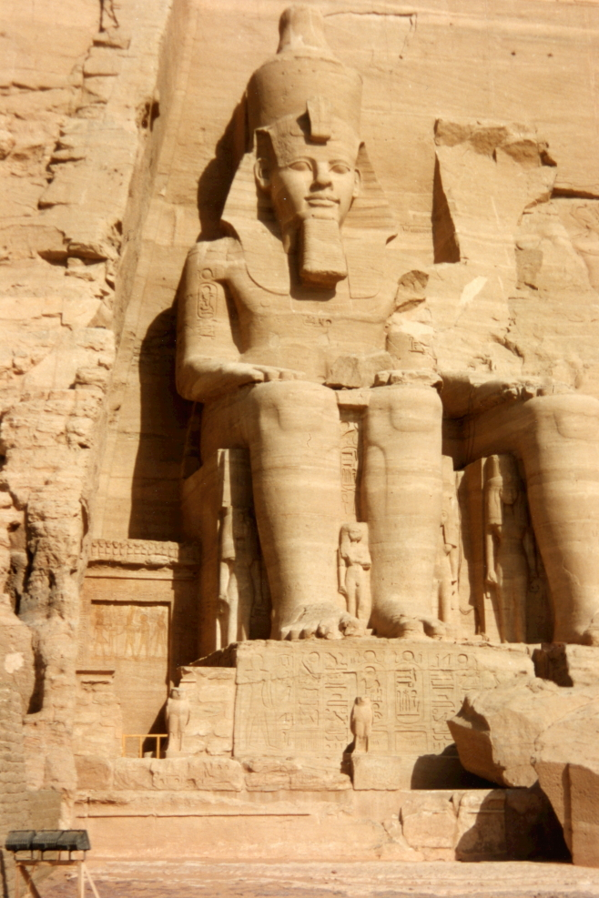 One of four Ramses II Colossi that sit in front of Abu Simbel