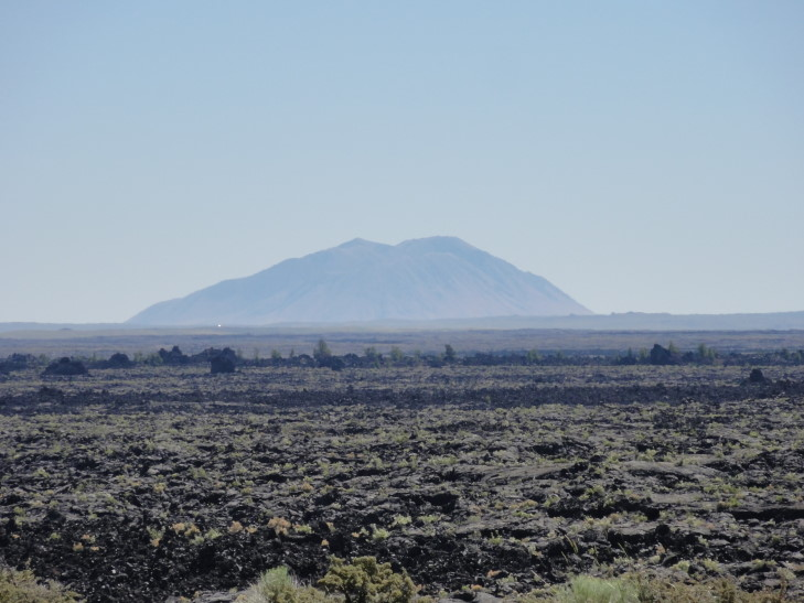 Lava Flow with Big Southern Butte beyond, Idaho