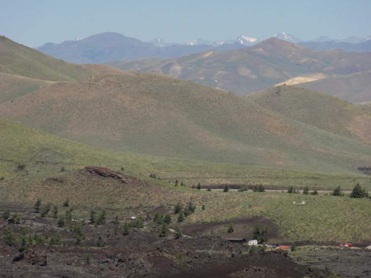 Lost Range viewed from cinder cone, CotM, Idaho