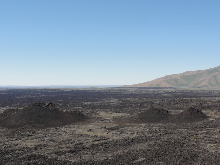 View of spatter cones from cinder cone, CotM, Idaho