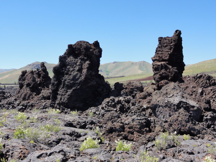 Displaced crater walls, CotM, Idaho