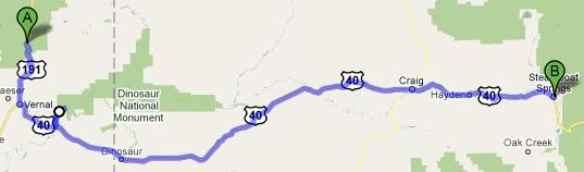 Route for July 22, 2010