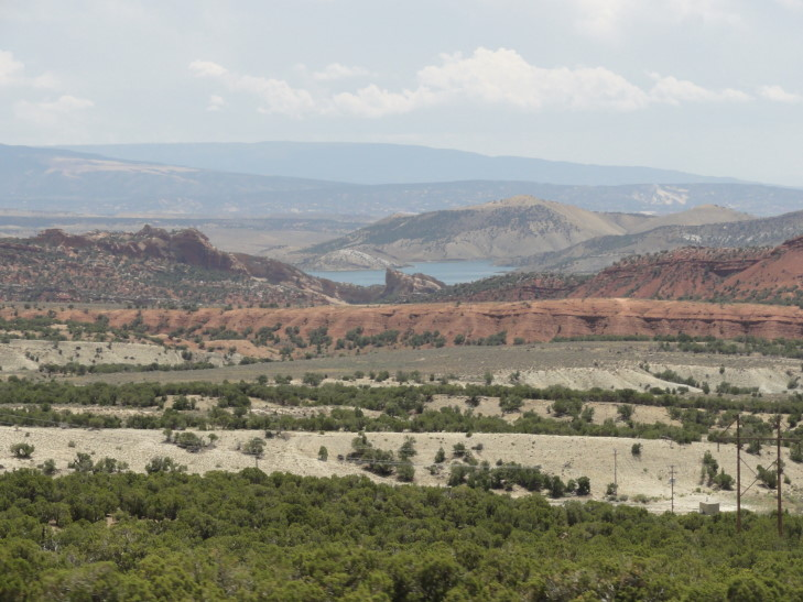 View from the road to Flaming Gorge NRA, Utah