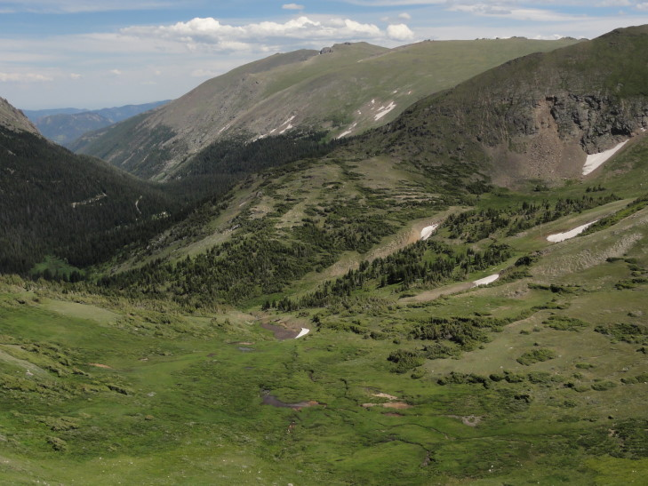 View of the cirque near the Alpine Visitor Center, RMNP, Colorado