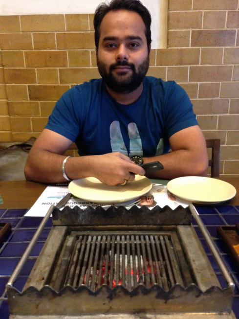 Anshul at Barbecue Nation