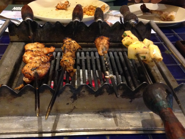 Kebabs at Barbecue Nation