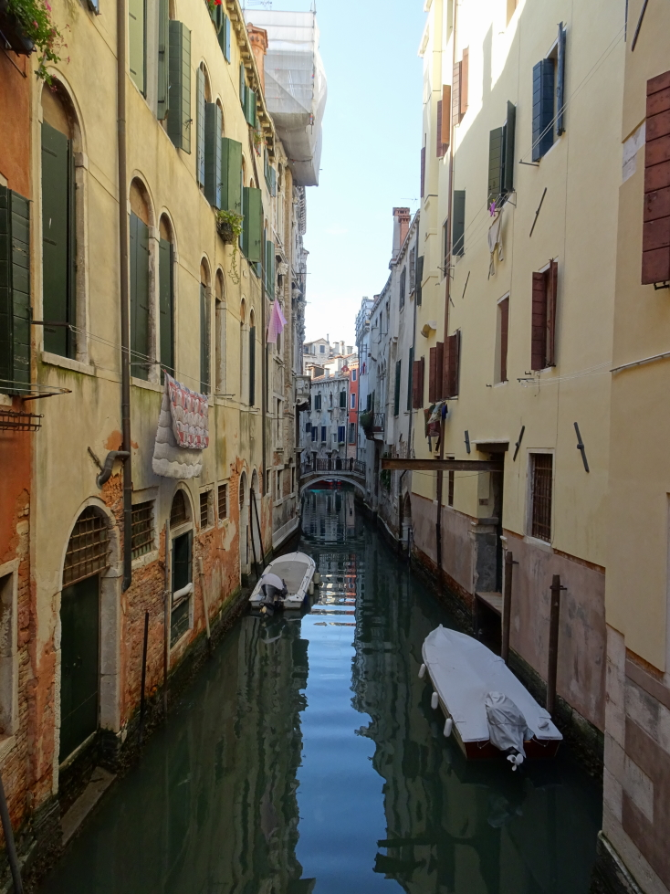 Small quiet canal in Venice