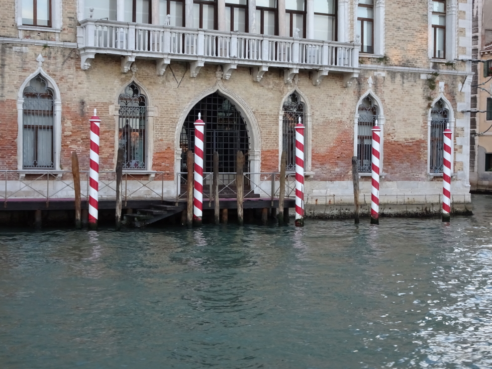 More stripey poles, in ever-stylish Wolfpack colors