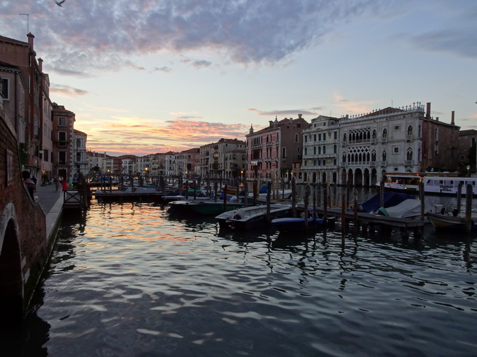 One last sunset picture of the Grand Canal