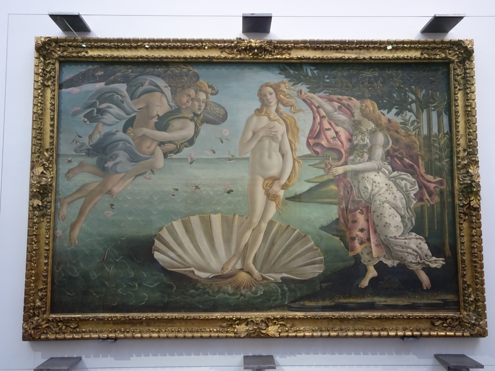 """Botticelli's """"Birth of Venus"""" -- makes me want to fire up Deluxe Paint for my old Amiga 1000"""