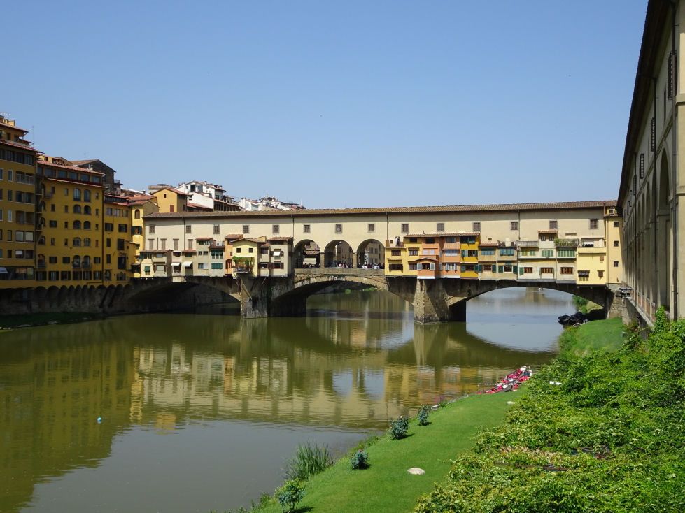 Ponte Vecchio spanning the Arno River in Florence