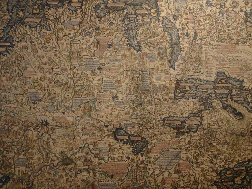 Copy of the world map drawn by Fra' Mauro in the late 1450s, original is in Venice