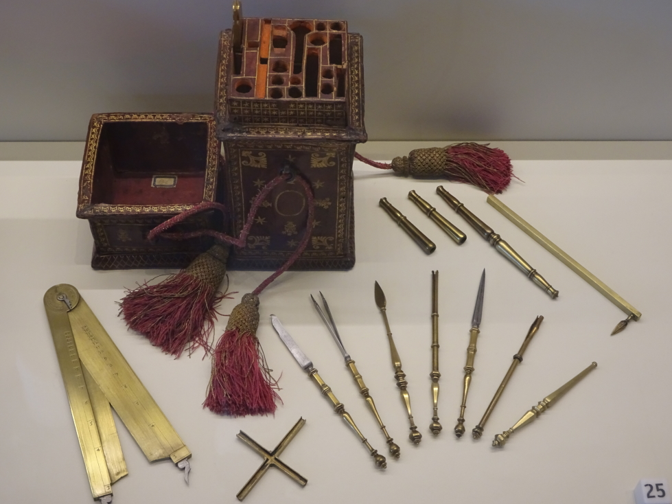 Case with mathematical instruments