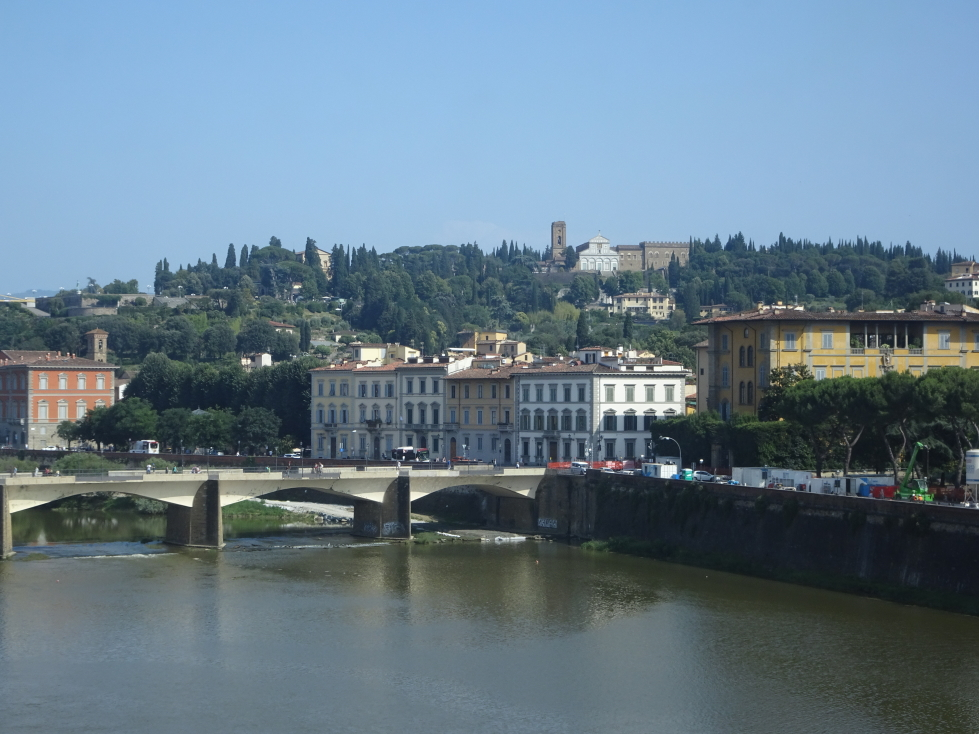 View of the Arno and Piazzale Michelangelo beyond