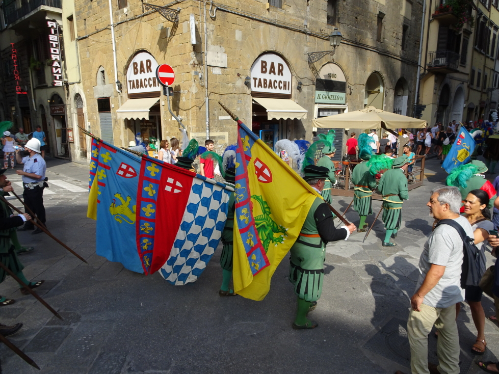 Cool flags being carried through Florence to celebrate the Feast Day of St. John