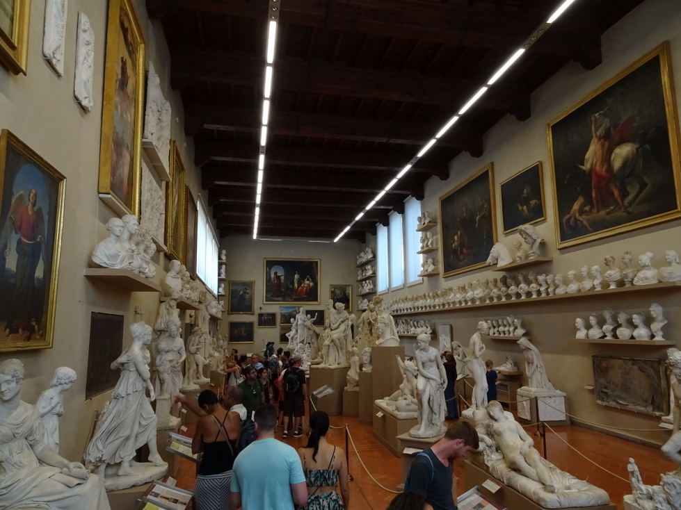 """""""Workshop"""" hall in Florence's Accademia Gallery"""