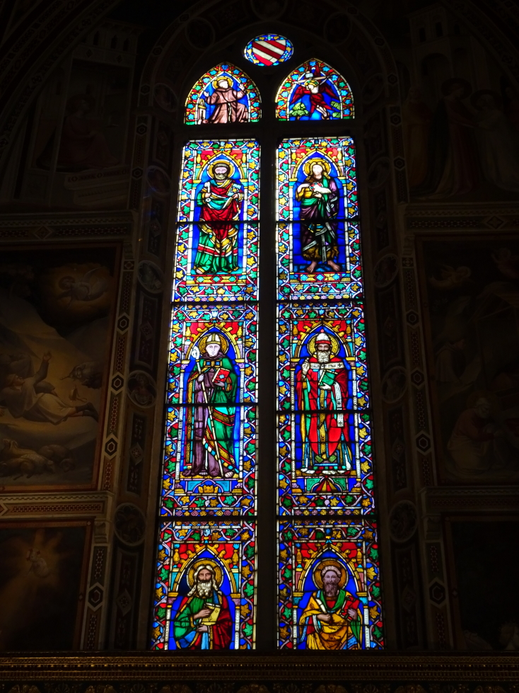 Stained glass at Santa Croce