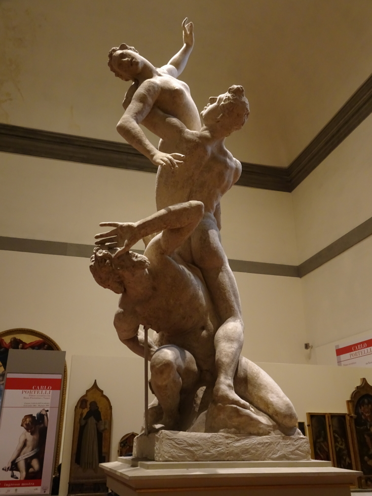 """Sculptor's model of """"Rape of the Sabines"""" by Giambologna, ca. 1580"""