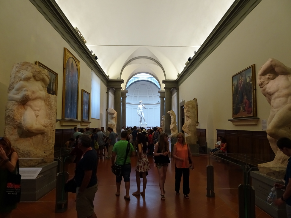 """The Hall of the Prisoners with """"David"""" beyond"""