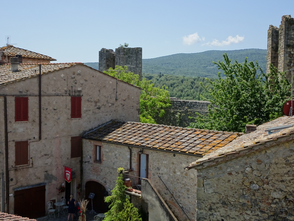 A shot of some of Monteriggioni's buildings