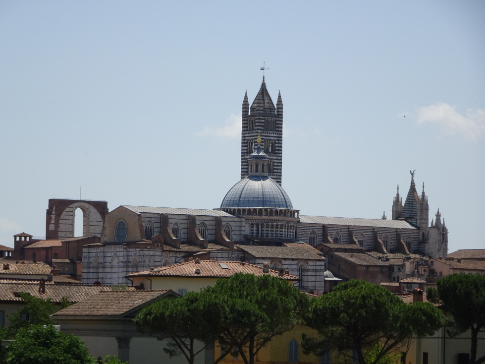 Siena's cathedral as seen from the outskirts of town