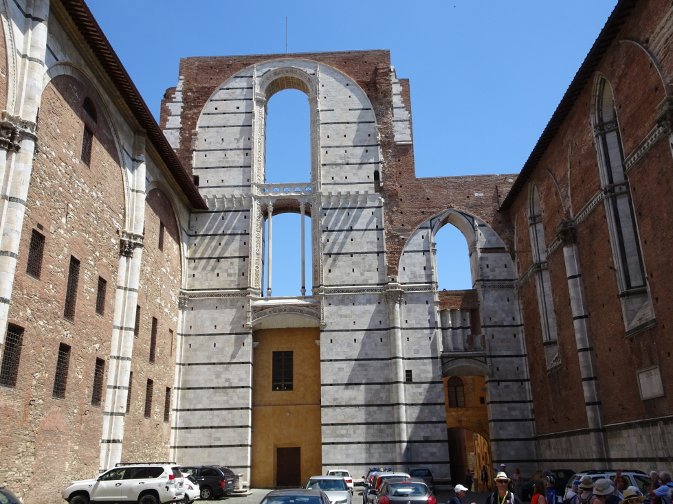 Unfinished wall of Siena cathedral