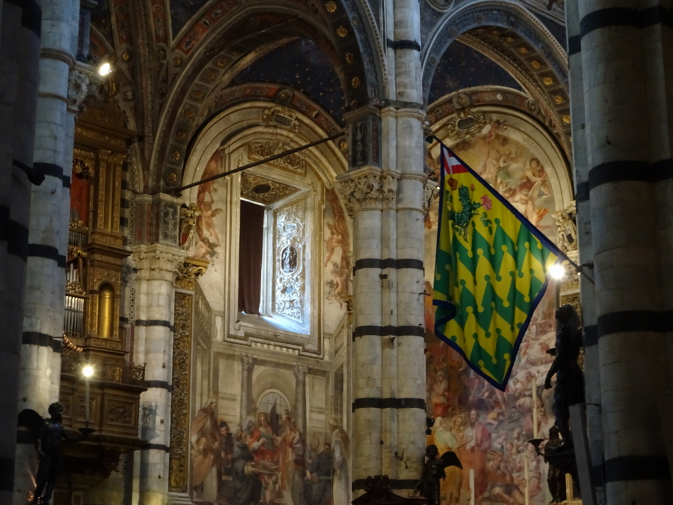 It was quite beautiful in the cathedral -- every surface decorated whether by paint or marble