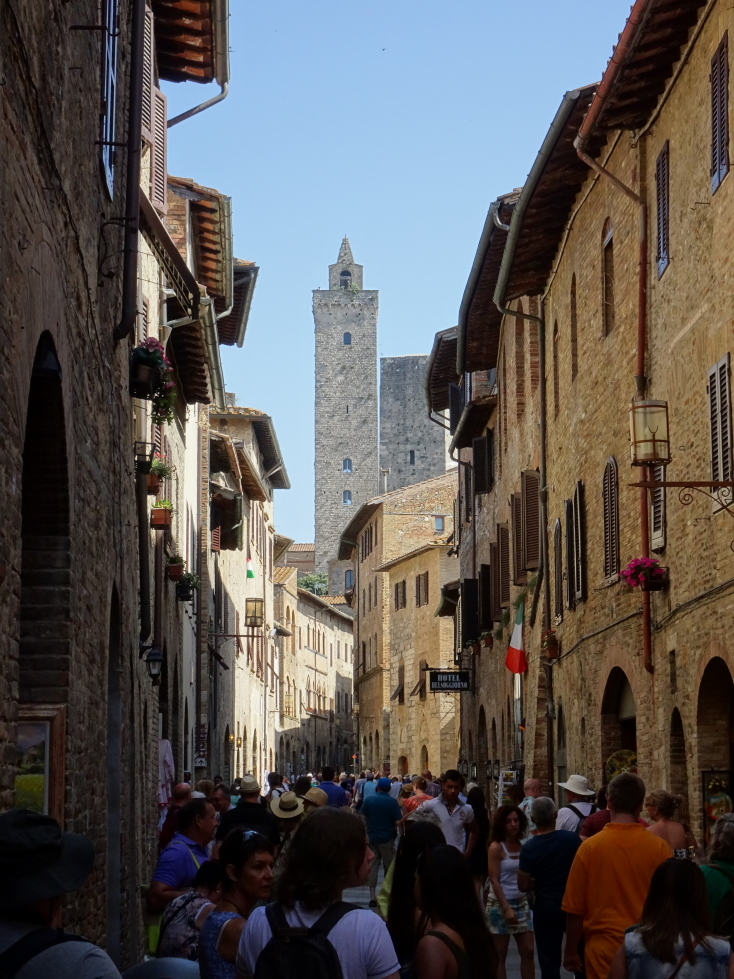 Two of San Gimignano's remaining fourteen towers