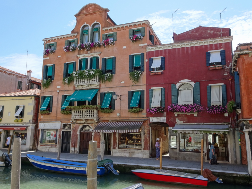 Buildings on a canal in Murano