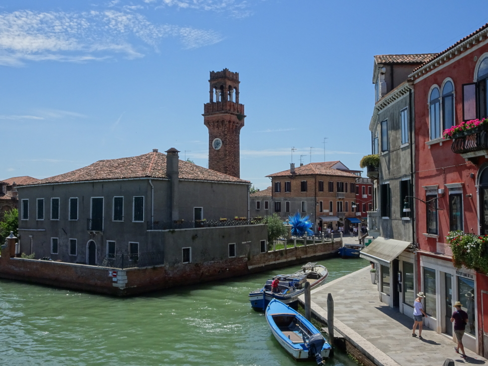 Look back at the tower, Murano