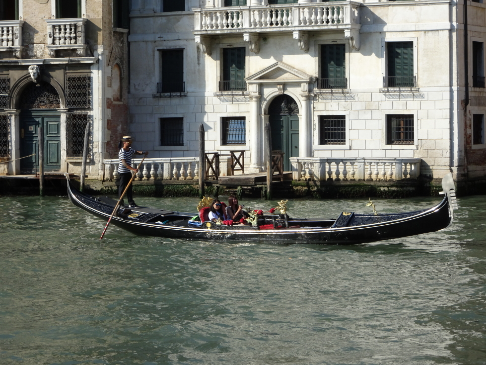 A gondolier on the Grand Canal, Venice