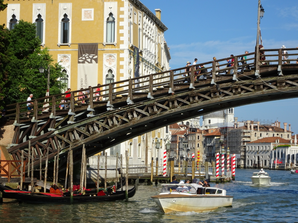 The Ponte dell'Accademia, one of only four bridges across the Grand Canal