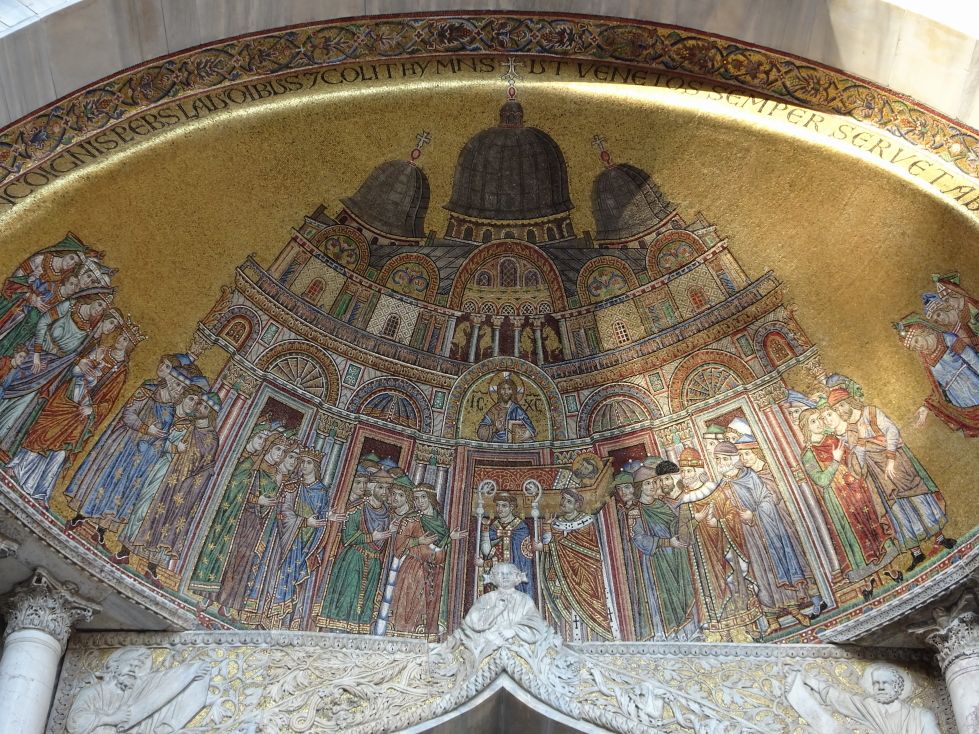 Another mosaic in the front of the basilica