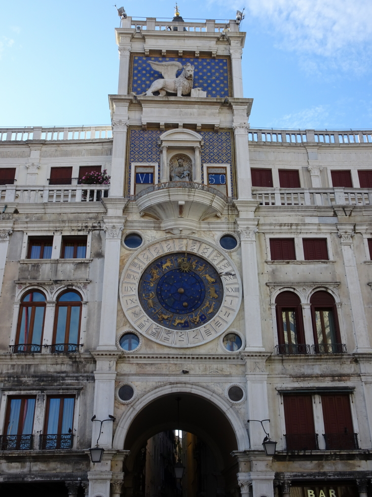 Torre dell'Orologio, or clock tower, in Piazza San Marco, Venice