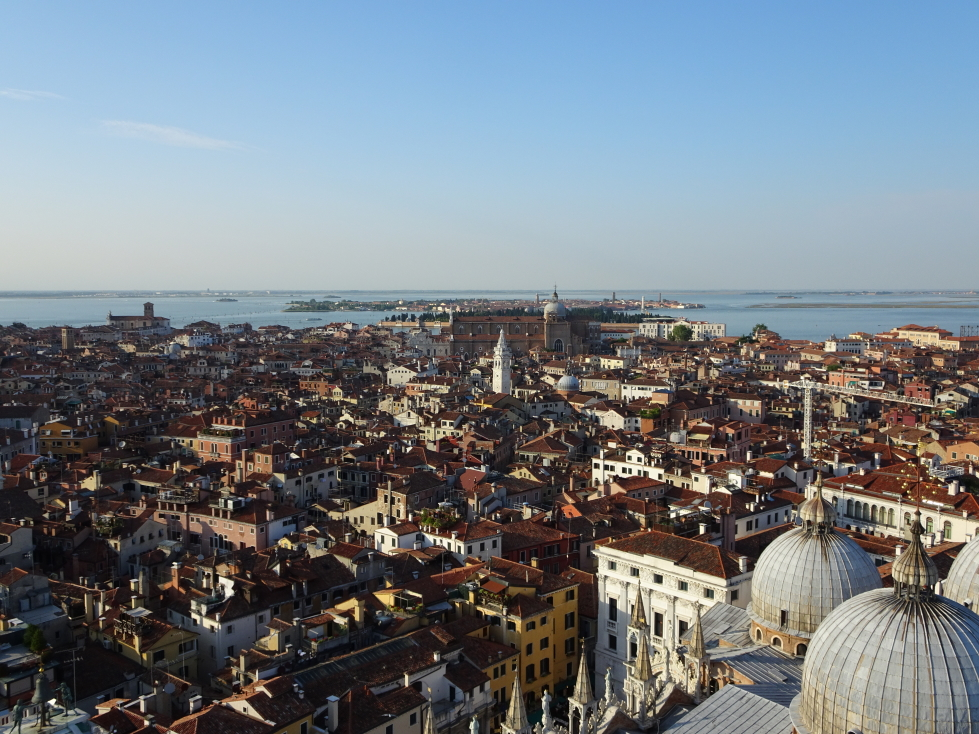 Looking to the northeast and the island of Murano