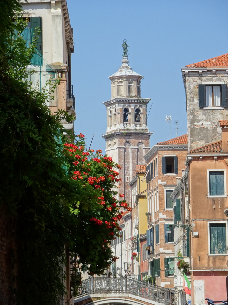 A campanile from one of Venice's many churches