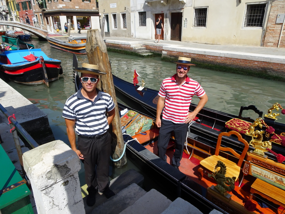 Our gondolier on the left
