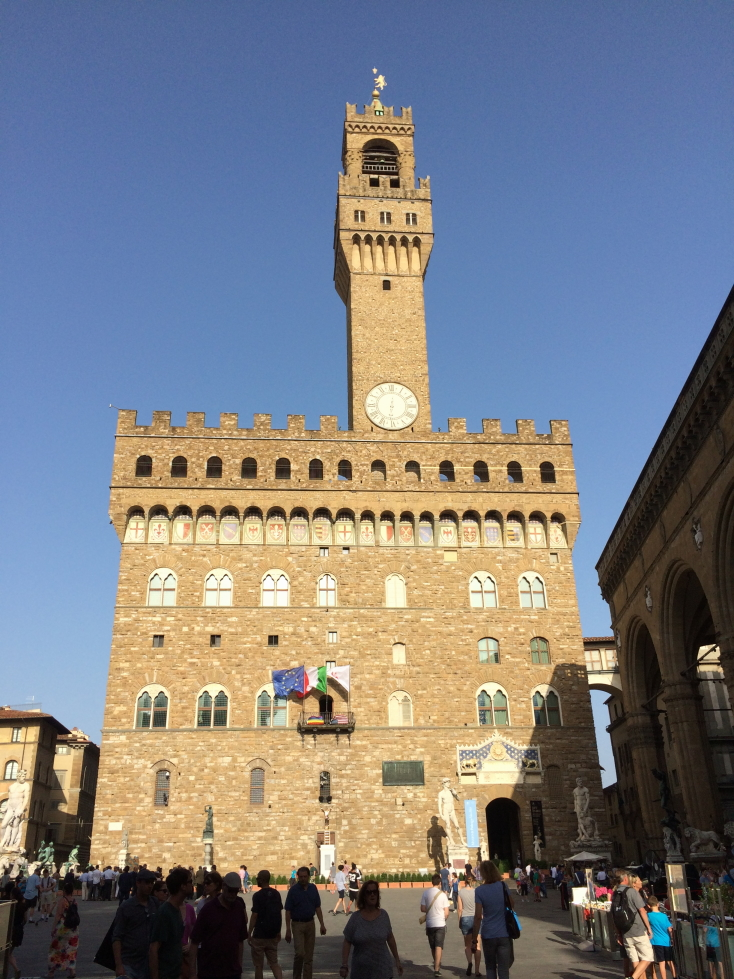 Palazzo Vecchio, the mayoral offices of Florence since the 1200s