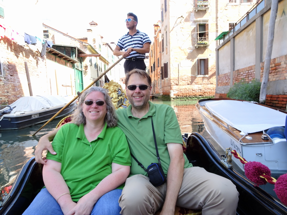 Michelle and I and our gondolier