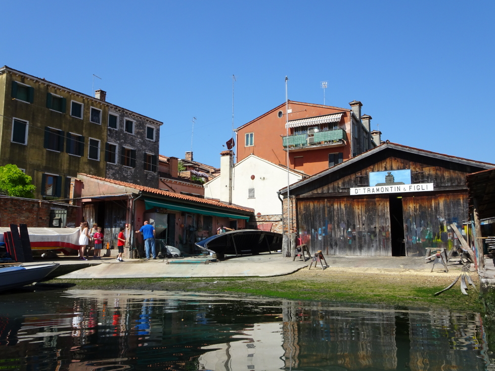 The first of the gondola factories we saw